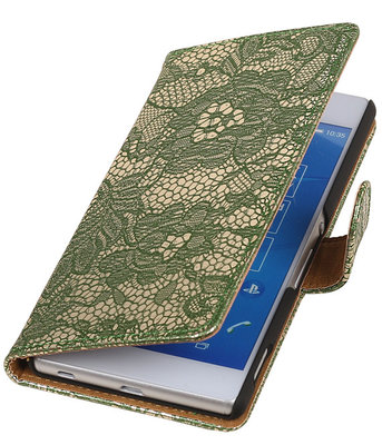LG Nexus 5X - Lace Donker Groen Booktype Wallet Hoesje