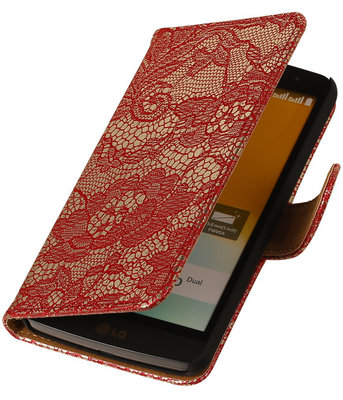 LG Nexus 5X - Lace Rood Booktype Wallet Hoesje