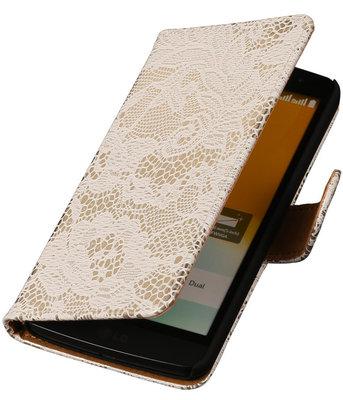 Hoesje voor LG Nexus 5X - Lace Wit Booktype Wallet