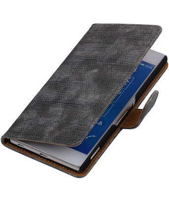 LG Nexus 5X - Mini Slang Grijs Booktype Wallet Hoesje