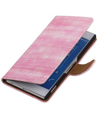 Hoesje voor LG Nexus 5X - Mini Slang Roze Booktype Wallet