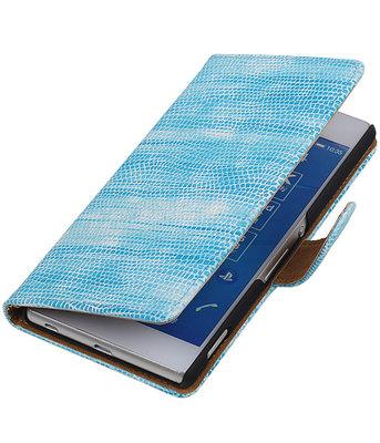 Hoesje voor LG Nexus 5X - Mini Slang Turquoise Booktype Wallet