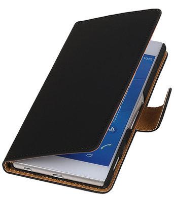 Hoesje voor LG Nexus 5X - Effen Zwart Booktype Wallet