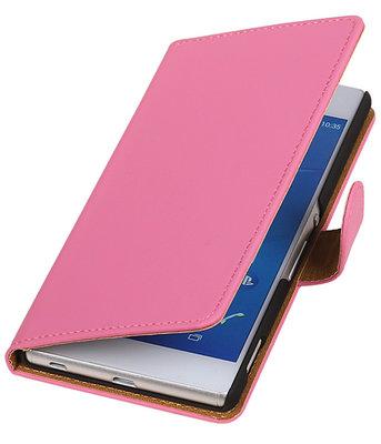 Hoesje voor LG Nexus 5X - Effen Roze Booktype Wallet