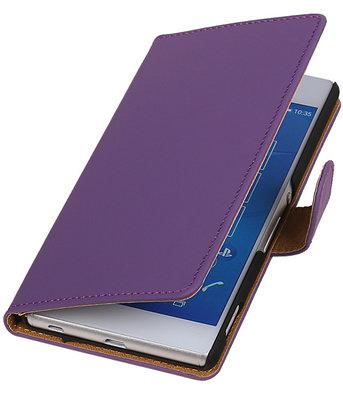 Hoesje voor LG Nexus 5X - Effen Paars Booktype Wallet