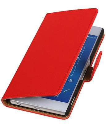 Hoesje voor LG Nexus 5X - Effen Rood Booktype Wallet