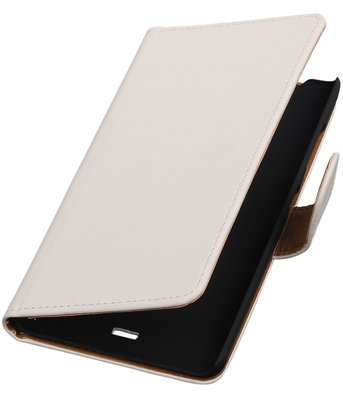 Hoesje voor Microsoft Lumia 540 Effen Booktype Wallet Wit