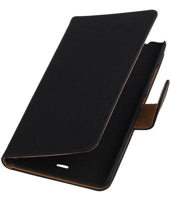 Hoesje voor Microsoft Lumia 540 Effen Booktype Wallet Zwart