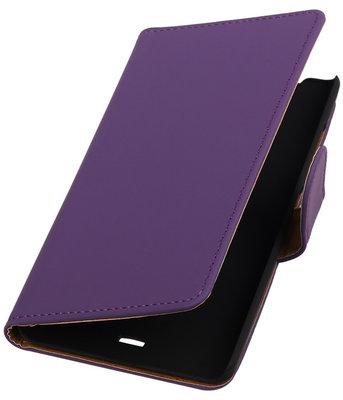 Hoesje voor Microsoft Lumia 540 Effen Booktype Wallet Paars