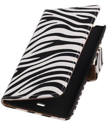 Hoesje voor Microsoft Lumia 540 Zebra Booktype Wallet