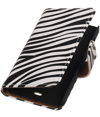 Microsoft Lumia 430 Zebra Booktype Wallet Hoesje