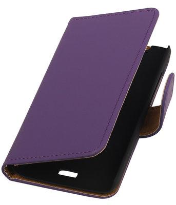 Hoesje voor Huawei Ascend Y360 Effen Booktype Wallet Paars
