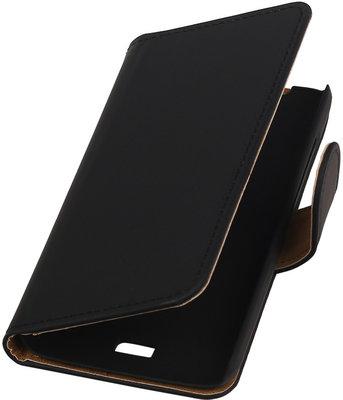 Hoesje voor Huawei Ascend Y360 Effen Booktype Wallet Zwart