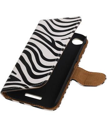 HTC Desire 320 Zebra Booktype Wallet Hoesje