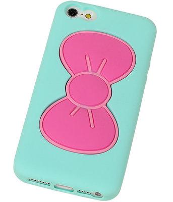 Vlinder Telefoonstandaard Case TPU iPhone 5/5S Groen