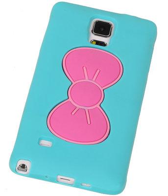 Hoesje voor Samsung Galaxy S5 - Vlinder Turquoise TPU Case Telefoonstandaard