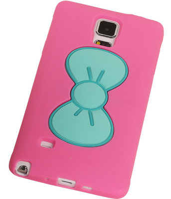 Hoesje voor Samsung Galaxy S5 - Vlinder Roze TPU Case Telefoonstandaard