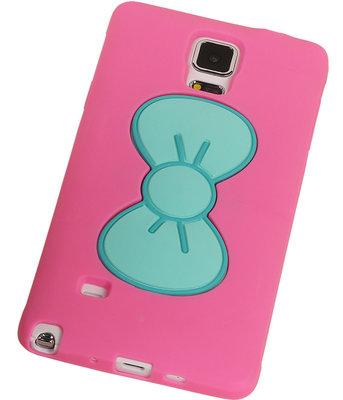 Hoesje voor Samsung Galaxy A7 2015 - Vlinder Roze TPU Case Telefoonstandaard