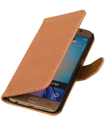 Hoesje voor HTC Desire 616 - Slang Roze Booktype Wallet