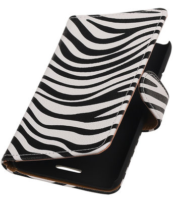 Hoesje voor HTC Desire 200 - Zebra Booktype Wallet