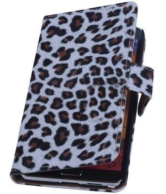 Hoesje voor HTC Desire 700 - Luipaard Bruin Booktype Wallet