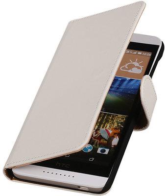 Hoesje voor HTC Desire 626 / 628 - Effen Wit Booktype Wallet
