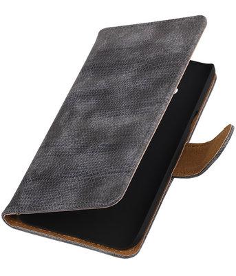 Hoesje voor Samsung Galaxy J3 - Mini Slang Grijs Booktype Wallet