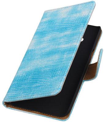 Hoesje voor Samsung Galaxy J3 - Mini Slang Turquoise Booktype Wallet