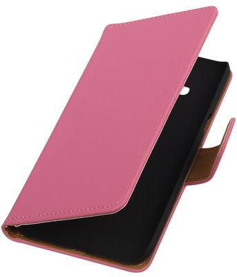 Hoesje voor Samsung Galaxy J3 - Effen Roze Booktype Wallet