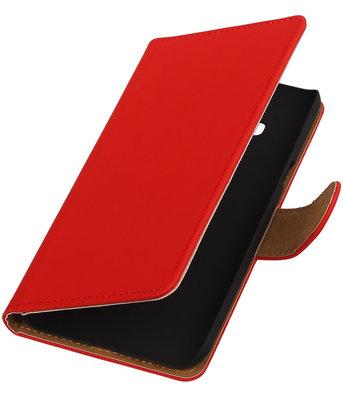 Hoesje voor Samsung Galaxy J3 - Effen Rood Booktype Wallet