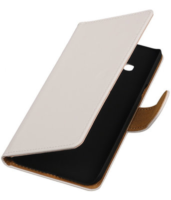 Hoesje voor Samsung Galaxy J3 - Effen Wit Booktype Wallet