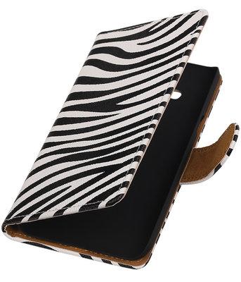Hoesje voor Samsung Galaxy J3 - Zebra Booktype Wallet