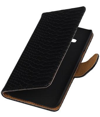 Hoesje voor Samsung Galaxy J3 - Slang Zwart Booktype Wallet
