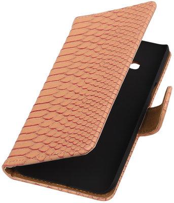 Hoesje voor Samsung Galaxy J3 - Slang Roze Booktype Wallet