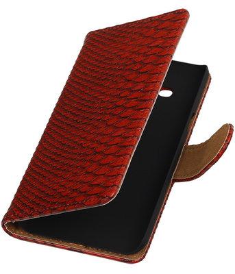 Hoesje voor Samsung Galaxy J3 - Slang Rood Booktype Wallet