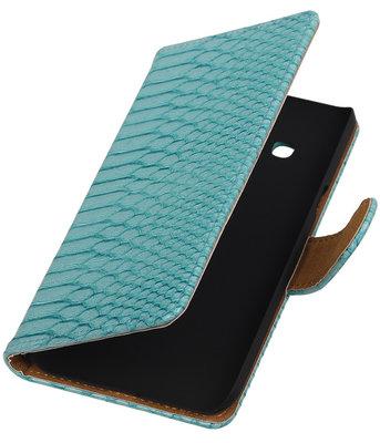 Slang Turquoise Booktype Wallet Hoesje voor Galaxy J3