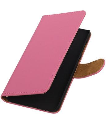 Hoesje voor HTC One A9 - Effen Roze Booktype Wallet