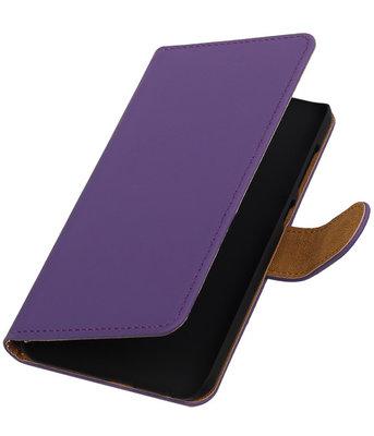 Hoesje voor HTC One A9 - Effen Paars Booktype Wallet