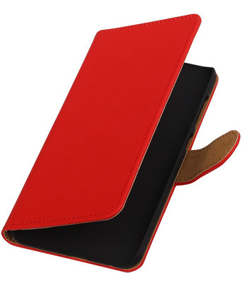 Hoesje voor HTC One A9 - Effen Rood Booktype Wallet