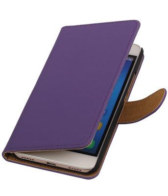 Huawei Honor Y6 - Effen Booktype Wallet Hoesje Paars