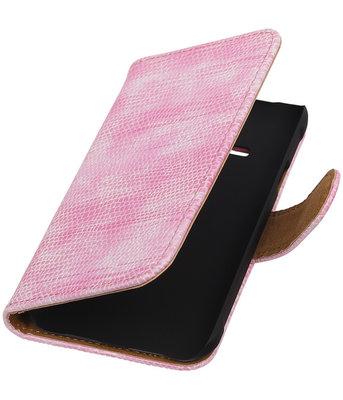 Hoesje voor Samsung Galaxy J1 Ace - Mini Slang Roze Booktype Wallet