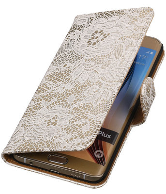 Lace/Kant Wit - Hoesje voor Samsung Galaxy S6 edge Plus