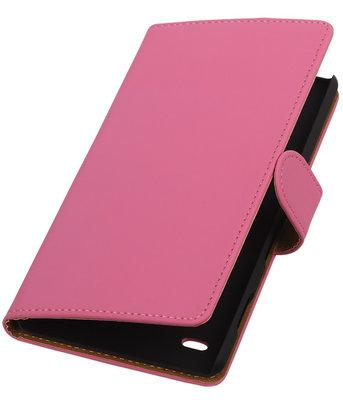 Apple iPod Touch 5/6 - Effen Roze Booktype Wallet Hoesje