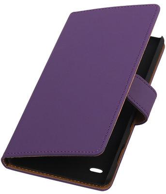 Hoesje voor Apple iPod Touch 5/6 - Effen Paars Booktype Wallet