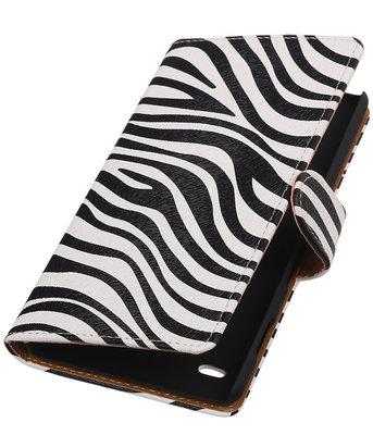 Apple iPod Touch 5/6 - Zebra Booktype Wallet Hoesje
