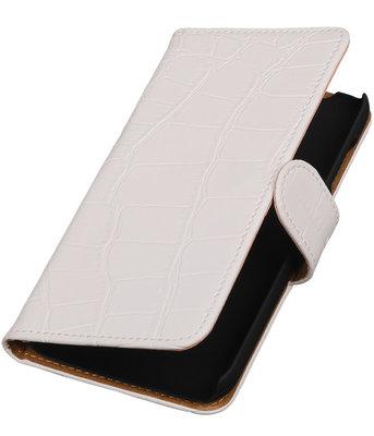 Hoesje voor Huawei Y625 - Krokodil Wit Booktype Wallet