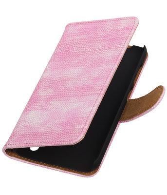 Hoesje voor Huawei Y625 - Mini Slang Roze Booktype Wallet