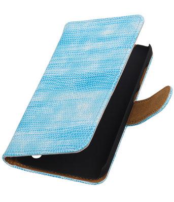 Hoesje voor Huawei Y625 - Mini Slang Turquoise Booktype Wallet