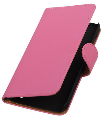Hoesje voor Huawei Y625 - Effen Roze Booktype Wallet