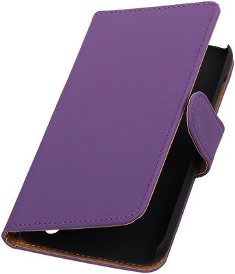 Hoesje voor Huawei Y625 - Effen Paars Booktype Wallet